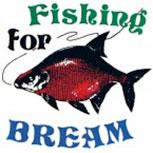 PVC Aufkleber Applikation - Fisch - Fische - Angler - FISHING FOR BREAM - 307127 - Gr. ca. 8,5 x 9,5 cm