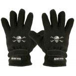 """(40385-56490) Fleece Handschuhe mit Einstickung """"TOTENKOPF"""""""