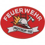Aufnäher Patch Applikation - Feuerwehr - 00412 - Gr. ca. 11 x 8 cm - Patches Stick