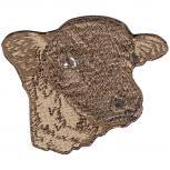 Aufnäher - Kopf Rind Ochse Kuh - 00377 - Gr. ca. 6,5cm x 5,5cm