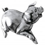 Anstecknadel - Ferkelchen - 05634 - Gr. ca. 3 x 3 cm