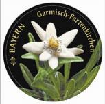PVC-Aufkleber - Bayern - Garmisch Partenkirchen - 301666 - Gr. ca. 8 cm Durchmesser