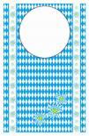 Einmal-Latz - Bayrisches Rautendesign - 39882 - blau-weiß