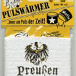 Pulswärmer - Preußen Adler - 56579 - Schweißband aus Frottier