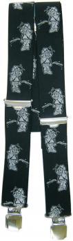 Hosenträger mit Print - Pinkelmännchen - 06543 schwarz