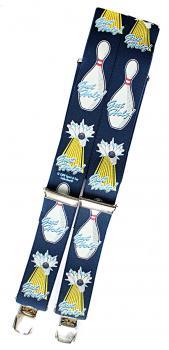 Hosenträger mit Print - Gut Holz Kegeln - 06577 - dunkelblau
