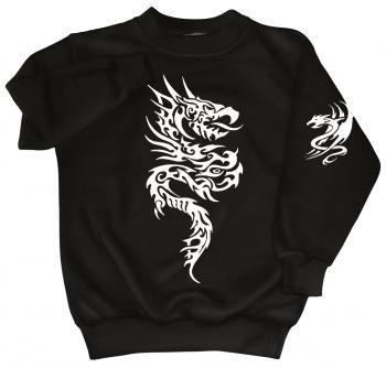 Sweatshirt mit Print - Tattoo Drache - 09020 Gr. S-4XL