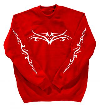Sweatshirt mit Print - Tribal Tattoo - 10120 Gr. S-4XL