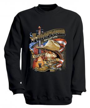 S-Shirt mit Print - American Way... - S10249 - versch. farben zur Wahl - Gr. S-XXL