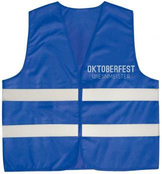 Warnweste mit Vorder- und Rückenaufdruck - WIESENMEISTER - 10319 blau Gr. S-4XL