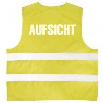 Warnweste mit Aufdruck - AUFSICHT - 10322 versch. Farben Gr. S-4XL