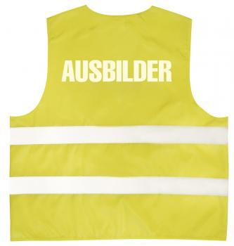 Warnweste mit Aufdruck - AUSBILDER - 10324 gelb Gr. S-4XL