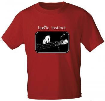 T-Shirt unisex mit Print - Bassic Instinct - von ROCK YOU MUSIC SHIRTS - 10396 dunkelrot - Gr. S-XXL