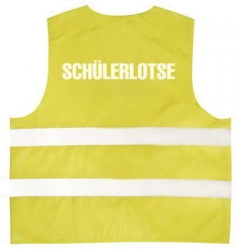Warnweste mit Aufdruck - SCHÜLERLOTSE - 11581 gelb Gr. S-4XL