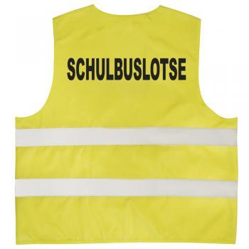 Warnweste mit Print - Schulbuslotse - 11712 gelb Gr. S-4XL