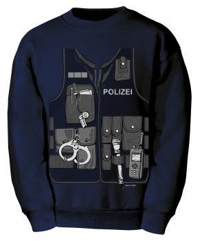 Kinder-Sweat-Shirt mit Print - Polizei - 12793 marine - Gr. 104-164