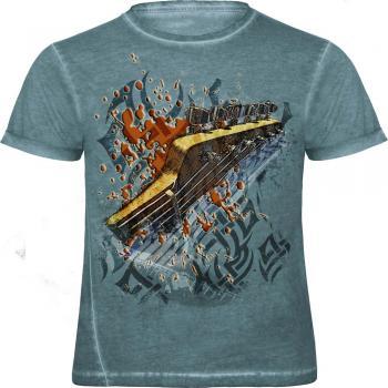 T-Shirt mit Print - crossfire - Gitarre - 12964 - von ROCK YOU MUSIC SHIRTS - Gr. L