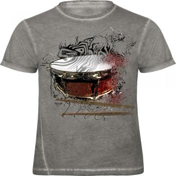 T-Shirt - bursted snare - 12966 - von ROCK YOU MUSIC SHIRTS - Gr. S