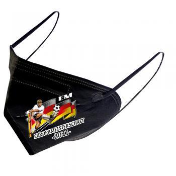 1 FFP2 Maske in Schwarz Deutsche Herstellung mit Print - Europameisterschaft 2021 - 15289