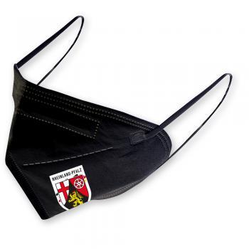 1 FFP2 Maske in Schwarz mit Transfer - RHEINLAND-PFALZ - 15343
