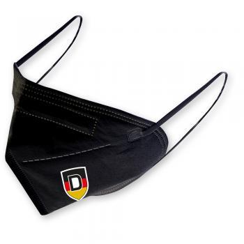 1 FFP2 Maske in Schwarz mit Transfer - DEUTSCHLAND - 15363