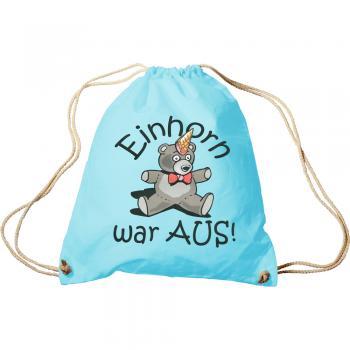 Trendbag Turnbeutel Teddybär Einhorn war aus 65085