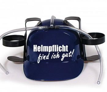 Trinkhelm Spaßhelm mit Printmotiv - Helmfplicht find ich gut  - 11844 - versch. Farben zur Wahl blau