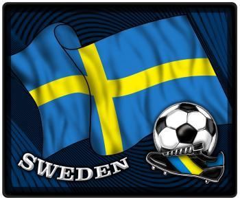 Mousepad Mauspad mit Motiv - Schweden Flagge Fußball Fußballschuhe - 83162 - Gr. ca. 24 x 20 cm