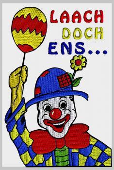 AUFNÄHER - Laach doch ens... - NEU - 04745 - Gr. ca. 7,5cm x 11cm - Patches Stick Applikation Bügel-Emblem