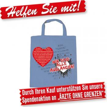 Baumwoll-Tasche mit Druckmotiv - Wir sind alle Ausländer - 08936 - Stofftasche