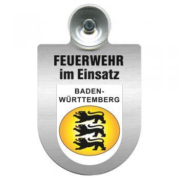 Einsatzschild Windschutzscheibe incl. Saugnapf - Feuerwehr im Einsatz - 309355