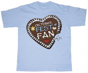 Kinder T-Shirt mit Motivdruck - Oktoberfest-Fan - 08282 hellblau - Gr. 74-146