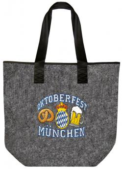 Filztasche mit Stickmotiv - OKTOBERFEST MÜNCHEN - 26255 - Umhängetasche Shopper Bag