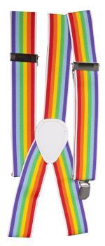 Hosenträger Hosenhalter elastisch - 06872 - regenbogenfarbig