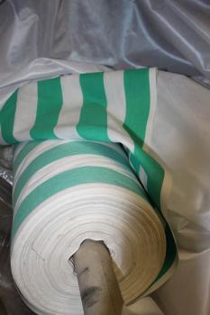 Stoff Meterware Dekostoff grün-weiß breite ca. 140cm