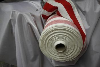 Stoff Meterware Dekostoff rot-weiß breite ca. 140cm