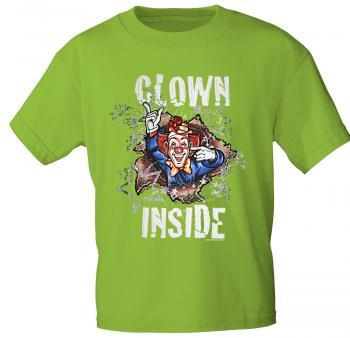 T-Shirt mit Print - Karneval - Clown Inside - 09523 - versch. Farben zur Wahl - Gr. S-2XL