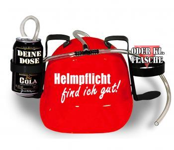 Trinkhelm Spaßhelm mit Printmotiv - Helmfplicht find ich gut  - 11844 - versch. Farben zur Wahl rot