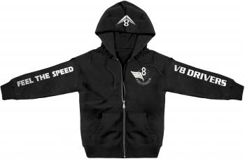 Kapuzenjacke mit Stickerei und Print V8 Drivers Feel The Speed - 132086 Gr. XS-5XL