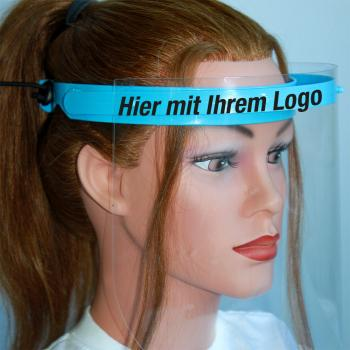 6 Stück - Klarsicht Gesichtschutz Gesichtsvisier aus Kunststoff - mit eigenem LOGO