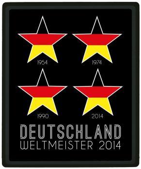 Mousepad Mauspad mit Motiv - Deutschland WELTMEISTER 2014  4 Sterne -  22743 - Gr. ca. 24 x 20 cm 4 STERNE DEUTSCHLAND 2014 - NEU ca. 24 x 19,5 cm