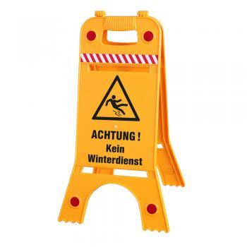 Warnaufsteller - Kein Winterdienst - 308541/1 - Warnschild Aufsteller