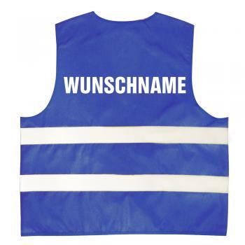 """Kinder Warnweste in 4 Farben mit Aufdruck  """"Wunschname""""   11704"""