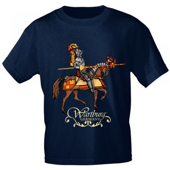 T-Shirt mit Print - Wartburg Germany - 12131 navyblau - Gr. M