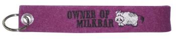 Filz-Schlüsselanhänger mit Stick Owner of Milkbar Gr. ca. 17x3cm 14085 pink