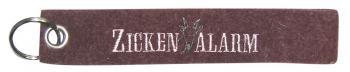Filz-Schlüsselanhänger mit Stick Zicken Alarm Gr. ca. 17x3cm 14079 rost