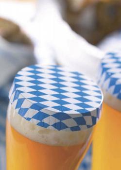Papierdeckel - Paper-Cap mit Rautenmuster - 37738 100 Stück - Insektenschutz Abdeckung Glasabdeckung