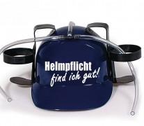Trinkhelm Spaßhelm mit Printmotiv - Helmfplicht find ich gut  - 11844 - versch. Farben zur Wahl