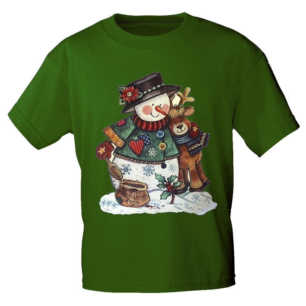Kinder T-Shirt mit Print Schneemann Weihnachten