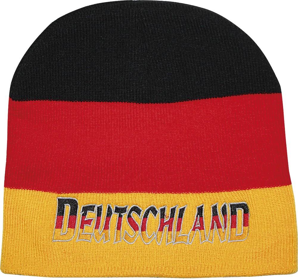 mütze schwarz rot gold